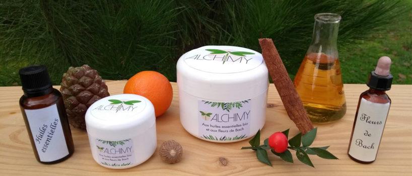 Composition hiver - crèmes Alchimy, huiles essentielles, fleurs de bach